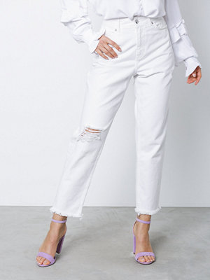 NORR Lucia relaxed fit jeans White Denim