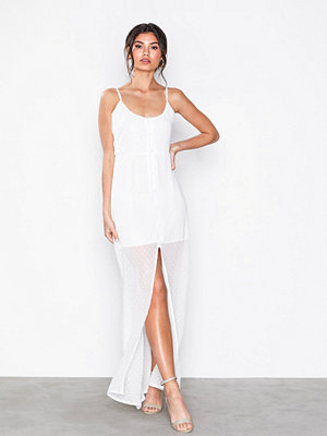 Missguided Button Down Maxi Dress White