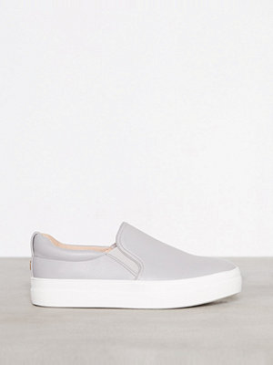 Topshop Tina Flatform Slip On Trainers Grey