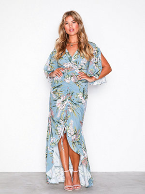 River Island Short Sleeve Maxi Dress Light Blue