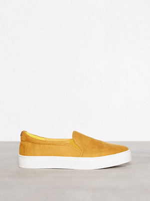 Topshop Slip On Trainers Yellow