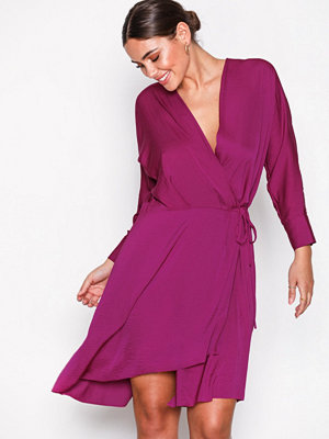 Filippa K Slinky Wrap Dress Orchid