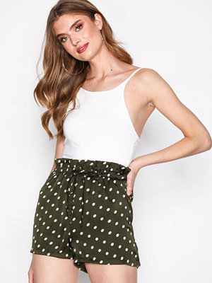 Missguided Polka Dot Short Set Khaki