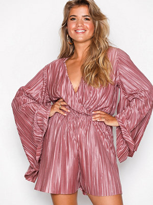 NLY Trend Kimono Pleated Playsuit Rose