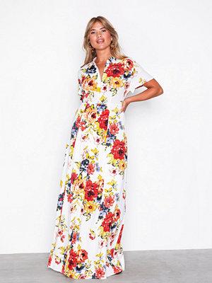Vila Virosalina S/S Maxi Dress Vit