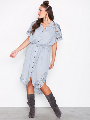 Free People Cut It Out Midi Blue