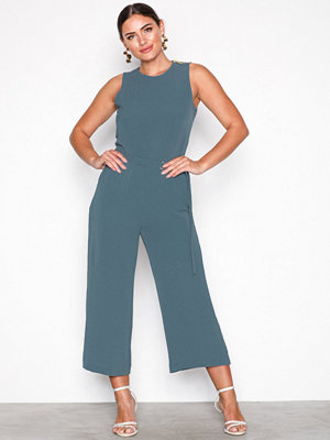 MICHAEL Michael Kors D Ring Belt Jumpsuit Chambray