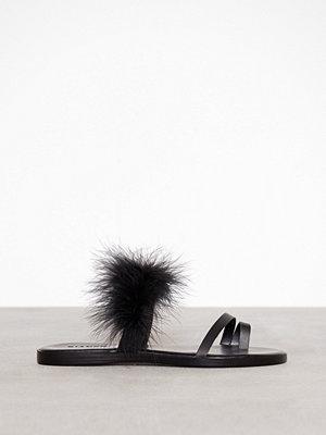 Sandaler & sandaletter - Bianco Feather Slip In Sandal Black