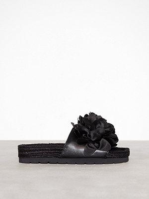 Tofflor - River Island 3D Flower Espadrille Black
