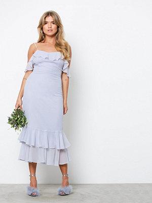 NLY Trend Frill Shoulder Dress Lila
