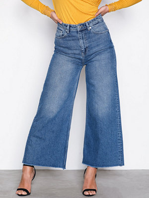 Selected Femme Sfcarry Xhr Cropped Wide Jeans J Blå