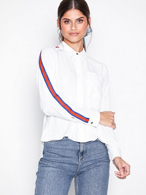 Topshop Side Striped Shirt White
