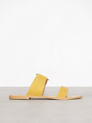 Tofflor - Topshop Hooray Two Strap Sliders Yellow