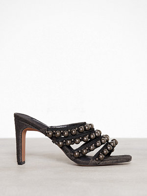 Topshop Strappy Mules Black