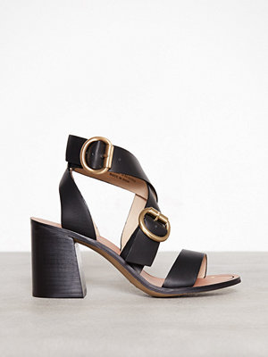 Topshop Cut Out Heeled Sandals Black