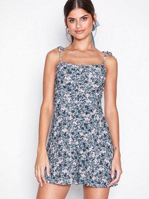 Topshop Ditsy Button Through Mini Slip Dress Multi