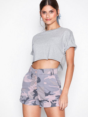 Topshop Camouflage Shorts Pink
