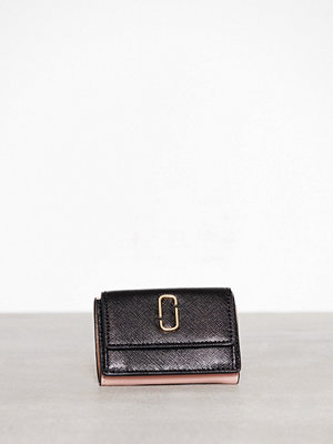 Plånböcker - Marc Jacobs Mini Trifold Black Rose