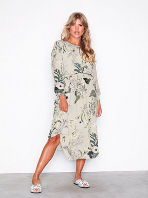 Only onlALMA L/S Smock Long Dress Wvn Ljus Grå