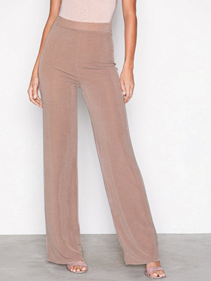 NLY One Glitter Glam Pant Beige byxor