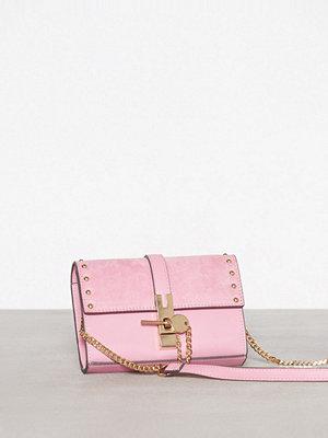 Topshop omönstrad axelväska Rhonda Keylck Bag Pink