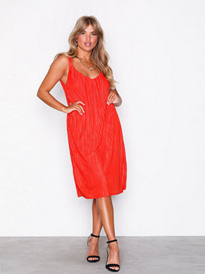 Vila Visolana Strap Dress Orange