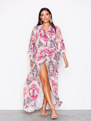 NLY One Resort Wrap Maxi Dress Mönstrad