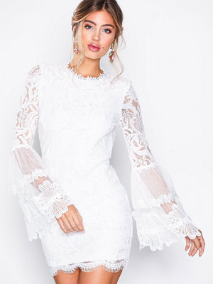 Missguided Key Hole Back Mini Dress White