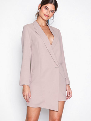 Topshop Asymmetric Hem Blazer Dress Pink