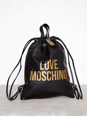 Love Moschino JC4094PP16LM1 Svart ryggsäck med tryck