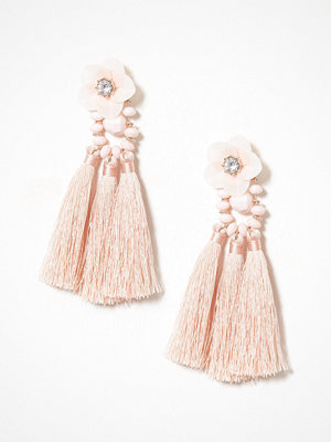 NLY Accessories örhängen Flower Tassle Earring Dusty Pink