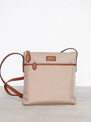 Lauren Ralph Lauren ljusgrå axelväska Medium Crossbody Clay