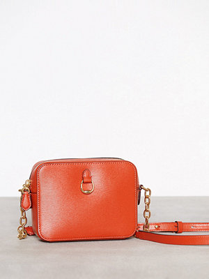 Lauren Ralph Lauren röd axelväska Small Camera Crossbody Orange