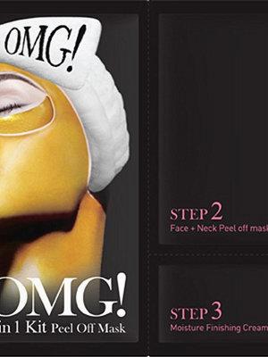 Ansikte - OMG! 3 in 1 Kit Peel Off Mask Transparent