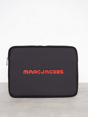 Marc Jacobs 13'' Computer Case Svart datorväska med tryck