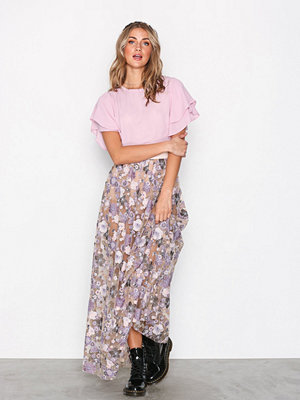 For Love & Lemons Posy Embroidery Maxi Skirt Bloom