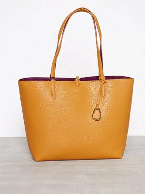 Handväskor - Lauren Ralph Lauren Reversible Tote Medium Saffron