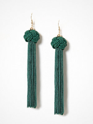 NLY Accessories örhängen Knot Tassle Earrings Grön