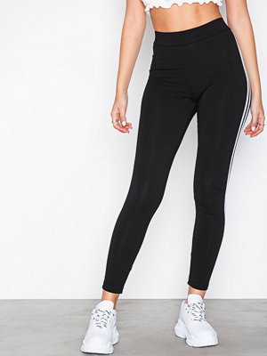 New Look Double Side Stripe Leggings Black