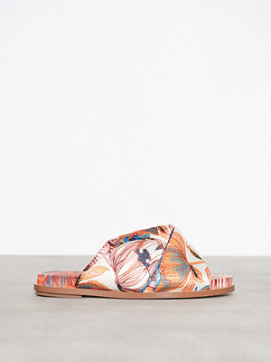 River Island All Over Print Knot Slider Cream