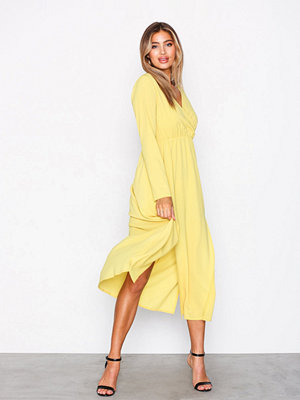 Ax Paris Long Sleeve Dress Yellow