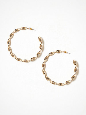 NLY Accessories örhängen Swirl Hoop Earrings Guld