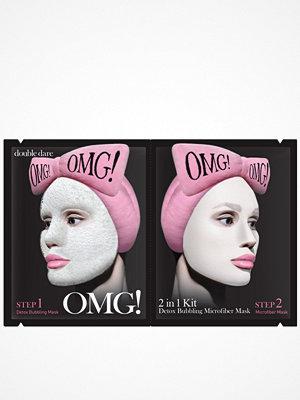 OMG! 2 in1 Kit Detox Bubbling Microfiber Mask Transparent