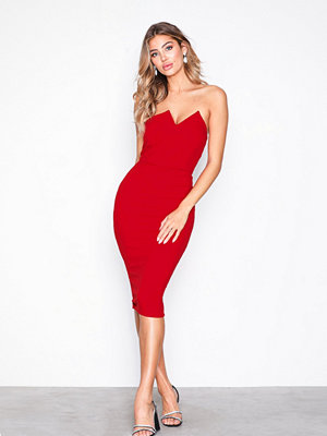 Ax Paris Bandeau Bodycon Dress Red