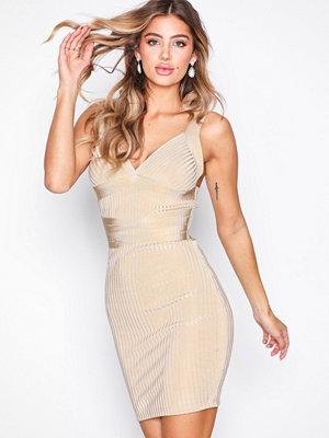 Wow Couture Sleeveless Bandage Dress Sand