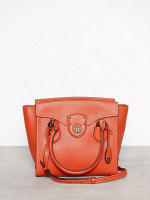 Handväskor - Lauren Ralph Lauren Medium Satchel Orange