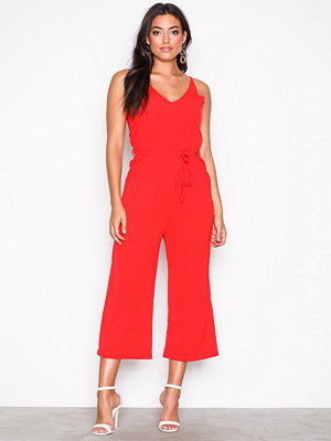 Ax Paris Strappy Jumpsuit Red