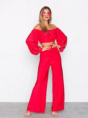Jumpsuits & playsuits - NLY One Bardot Set Röd