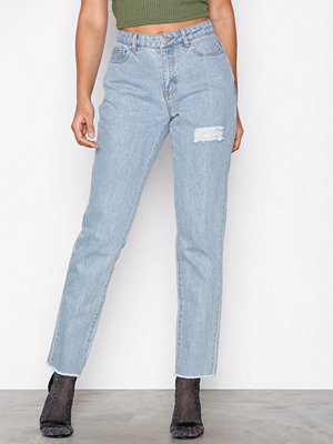 Missguided Lust Bum Rip Detail Jean Blue