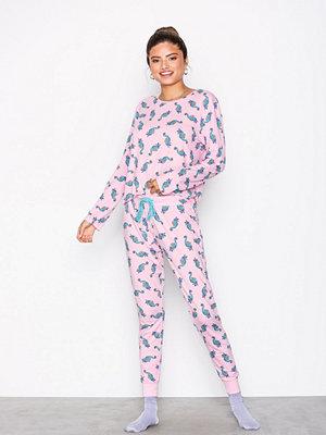 Pyjamas & myskläder - Chelsea Peers Sea Horse Long PJ Set Rosa